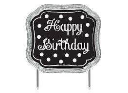 Chalkboard Happy Birthday Cake Topper