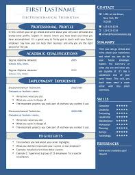 Resume One Page Template 41 Templates Free Samples