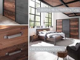 michel schlafzimmer komplettset 2 style dunkel betonoxid