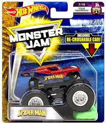 100 Spiderman Monster Truck Amazoncom SpiderMan Jam Diecast Recrushable Car Toys Games