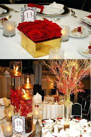 Red And Gold Decorations Trend Wedding Decoration Ideas For Table Centerpieces