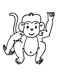Printable Monkey Coloring Pages For Kids Animal Place Page Of A