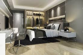 3d rendering luxus moderne schlafzimmer suite tv mit schrank und begehbarer schrank foto dit26978 auf envato elements