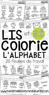 FRENCH Alphabet Read And Colour