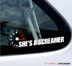 She S A Screamer Funny High Rev Rpm All Motor NON TURBO Car Sticker ... Boy Walking T Rex Vinyl Decal For Car And Truck Windows Sticker Funny 3d Eyes Peeking Monster Voyeur Hoods Custom Decals For Cars Price In Singapore Product At Walker St Star Wars Rear Window Amazoncom No Free Rides Gas Or Ass With Jeep Sign Unique Design My Family Guns Stick Figure Auto You Just Got Passed By A Girl Sticker Jdm Race Car Truck 153 Best Bumper Stickers Images On Pinterest Bumper Stickers Ghibli Totoro Catbus Nekobus Suv Wall 4 X Uranus Is Huge Joke Ass Hole Anus Pics Of Weird Wacky Badges Cars Bikes