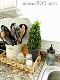 Kitchen Basket Platter With Green Element Salt And Pepper Shakers Napkin Holder