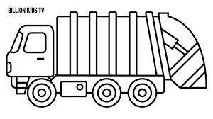Reliable Truck Coloring Pages Garbage Colors Trash Video For Kids ...