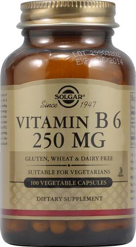 Solgar Vitamin B6 250mg Dietary Supplement - 100 Capsules