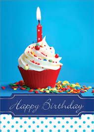 Happy Birthday Cupcake Box of 25 Custom Imprint Birthday Cards
