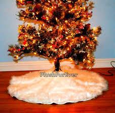 Burlap Christmas Tree Skirt With Ruffle 36 Inch Diameter