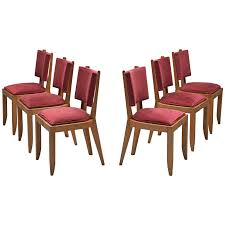 Charles Dudouyt Set Of Burgundy Fabric And Oak Dining Chairs For ... Set Of 6 Ding Chairs With Red Fabric Teak Archive Modest Fniture Chair Contemporary Wingback Zebra Ding Bent Plywood Shop Christopher Knight Home Pertica Red Fabric Upholstered Room Wooden Kitchen Chairs Grey Table For Linen High Scroll Back Rrp 24999 Save 4 Oak Framed Danish Homestore Verbois Jane Solid Walnut Six In Bmhaus Berry Cor03i Heath 2 Gdf Studio Floral Sets 8 Modern Whosale Beech Wood Upholstery