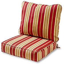Amazon Prime Patio Chair Cushions by Amazon Com Bullnose High Back Outdoor Chair Cushion 4