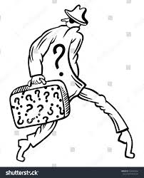 Funny Thief Character Question Mark Stock Vector 335542556