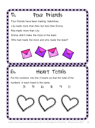 Halloween Brain Teasers Math by Fun Games 4 Learning Valentine U0027s Day Math Freebies