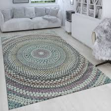 retro rug dots circle pattern colourful