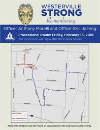 Westerville releases map of procession to honor two officers