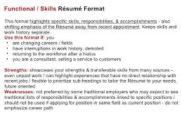 What Are Key Skills On A Resume Sample Of In Functional Format