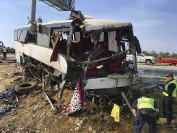 Brake And Lamp Inspection Fresno Ca by Catastrophic U0027 Charter Bus Crash Leaves Five Dead L A Driver