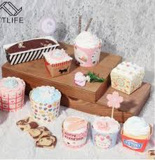 TTLIFE 50Pcs Lot Muffin Cup Cake Paper Cupcake Mold Pan