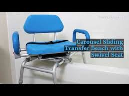 Bathtub Transfer Bench Swivel Seat by Bath Chair For Elderly Carousel Premium Sliding Transfer Bench