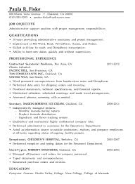 Resume Sample Administrative Support Project Management