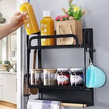 lemecima kühlschrank regal magnetisch hängeregal küche mit 4
