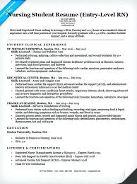 Nursing School Resume Template Entry Level Student Sample Application