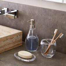 Bathroom Tumbler Used For by Umbra Droplet Acrylic Countertop Bathroom Set The Container Store