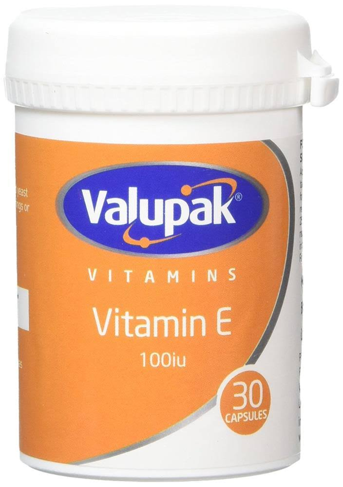 Valupak Vitamin E 100iu - 30 Capsules