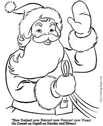 Free Printable Santa Christmas Coloring Pages