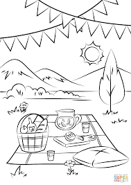 Click The Picnic Scene Coloring Pages
