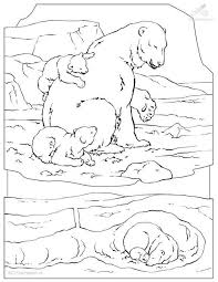 Free Android Coloring Polar Animal Pages For Bear Page