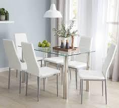 Zoe 7 Piece Dining Set With Zara Chairs