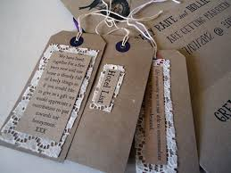 Lace And Brown Card Wedding Luggage Tags