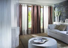blue and brown living room curtains modern house