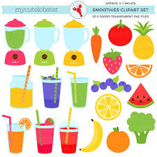 Smoothies Clipart Set Blenders Fruits Vegetables Drinks