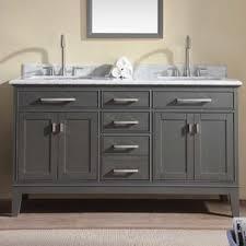 Distressed Bathroom Vanity Gray by 56