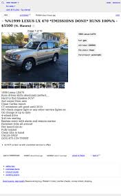 100 Craigslist Cars And Trucks For Sale By Owner In Ct 5500 Would You Crossover To This 1999 Lexus LX470 SUV
