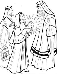 Coloring Page For The Presentation Of Our Lord In Temple At Jesus