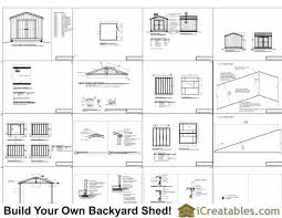 10x10 shed foundation plans