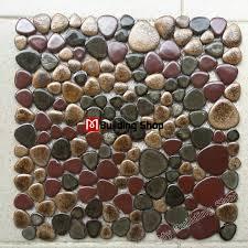 glazed porcelain tile glass pebble mosaic tile ppmt047 pebble