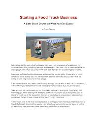 Business Plan Template Food Truck Fashion Sample Best Of Fresh ...