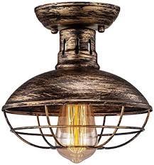 deckenle industrie vintage e27 fassung bronze metall
