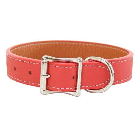 "Auburn Leathercrafters Tuscany Leather Dog Collar - Pink, 1"" x 18"""