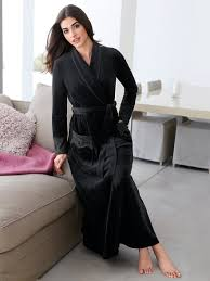 robe de chambre en velours robe de chambre femme velours viviane boutique