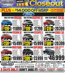 Lakeland Ford Sales Specials, Rebates, Discounts & Savings ... Bartow Ford Service Department Phone Number Is Your Car New And Used Dealer In Fl Trucks For Sale On Cmialucktradercom 2016 Sales People Of The Year Lakeland Lifted Serving Brandon Tampa Thunder Chrysler Dodge Jeep Ram Vehicles Sale 33830 Jerry Kelley Gmc Adel Valdosta South Georgia Los Angeles Ca Galpin