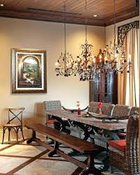 Rustic Chic Dining Room Chandeliers Furniture Wrought Iron
