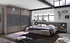 details zu schlafzimmer komplett set bett 180 kleiderschrank 270 eiche beton braun grau led