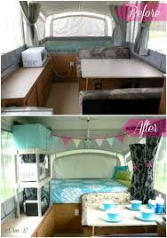 Pop Up Camper Remodel Check Out Those BEFORE AFTER