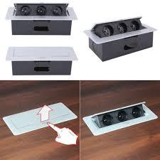 einbausteckdose 3fach versenkbar mit softöffnung küche büro